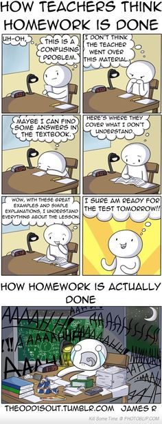 How Teachers Think Homework Works Vs Reality