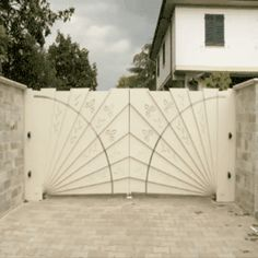 Very clever automatic gate design Tor Design, House Design, Design Design, Design Ideas, Exterior Design, Interior And Exterior, Interior Ideas, Automatic Gate, Automatic Driveway Gates