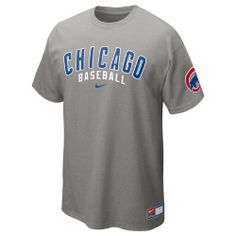 2f890d6d870d1 Chicago Cubs Grey Away 2013 Practice T-Shirt by Nike