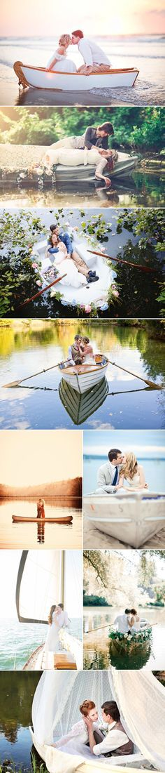 These are too awesome! They remind me of paintings!! Romantic Love-Boat Engagement Photo Ideas