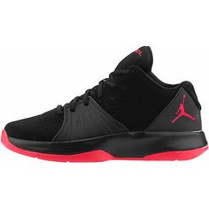 Nike Jordan 5 AM Gs Bg Kids 807547-002 Black Red Basketball Shoes Youth Size 4