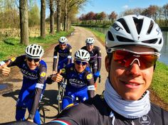Bob Jungels // Sun is out, legs are tired, body still sleeping but coffee's callin' in Maastricht!☕️☕️ @Etixx_QuickStep