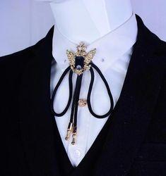 Crown Eagle Bolo Tie - Men s Formal Accessories - Pandora s Locket Jewelry Accessories, Fashion Accessories, Suit Accessories, Fashion Jewelry, Classy Men, Classy Casual, Men Formal, Schmuck Design, Men Necklace