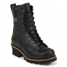 b8d4ec216324 Chippewa Black Oiled Composite Toe Lace To Toe Logger Men Shoes 73111 · Dr  Martens BootsDr. ...