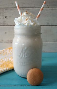 Banana Cream Pie Smoothie - A thick, healthy, creamy drink made with coconut milk and bananas that taste just like a cream pie.