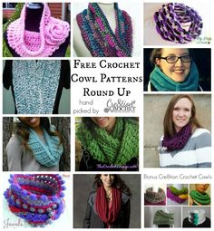 free crochet cowl patterns, free crocheted cowl patterns, free cowl, crochet cowls