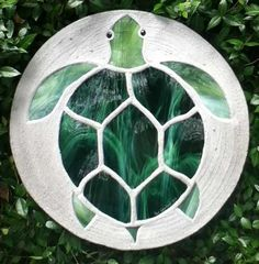 Sea Turtle Stepping Stone to go with the 'hatchling' stones in concrete foundation to create path to front door.