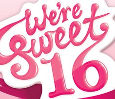 Student Flights' Sweet 16 Birthday Campaign – Typography. Designed by Leah McLaughlin. http://www.leahmclaughlin.com.au/