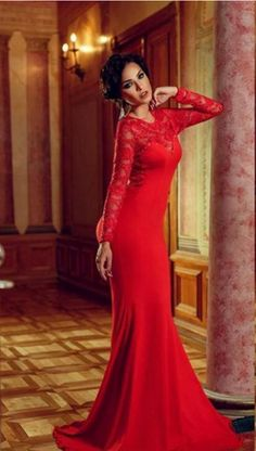 Charming Long Sleeve Appliques Real Made Prom Dresses 553da3746