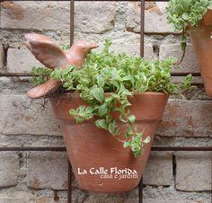 vaso parede beija flor www.lacalleflorida.blogspot.com.br email:lacalleflorida@uol.com.br