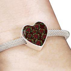 Red Flowered Pattern - Bracelet Islamic Gifts, Red Flowers, Flower Patterns, Muslim, Gifts For Women, Heart Ring, Women Jewelry, Bracelets, Rings