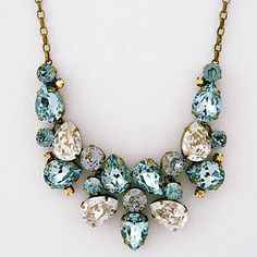 Crystal Pear Drop Statement Necklace. Sorrelli Afterglow collection.