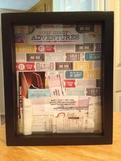 My photo box I made to keep ticket stubs to display instead of throwing them away. <3 it