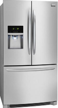 """Checkmark - Gallery 22.6 Cu. Ft. Stainless Steel Counter Depth French Door Refrigerator 28.5""""**"""