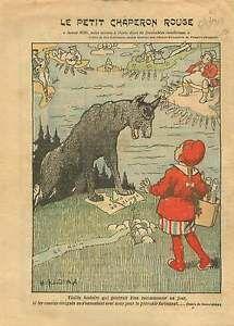 Caricature-Politique-Petit-Chaperon-Rouge-Marianne-John-Bull-1919-ILLUSTRATION