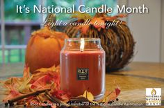 November is National Candle Month! Celebrate by lighting a Root Candle tonight! #NationalCandleMonth
