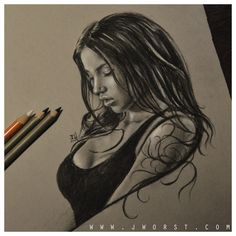 "Svetlana bilyanova sketch drawing artwork by jeremy worst "" drawing sketching diy charcoal pencil art artwork draw motivation inspire inspiration inspired sexy boobs"
