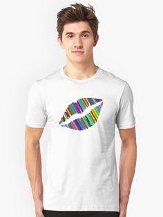 'Chromatic Lips' T-Shirt by Adrian Razvan Petcu Lip Designs, Shirt Designs, Tshirt Colors, Kisses, Chiffon Tops, Heather Grey, Classic T Shirts, Lips, Colorful