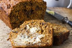 "Super bran breakfast loaf recipe, Bite – I like to call this high-fibre loaf my ""breakfast loaf'', because all I have to do is slice off a piece and a nutritious breakfast is served! It's a life-saver for those very rushed mornings. Makes 1 large loaf. – foodhub.co.nz"