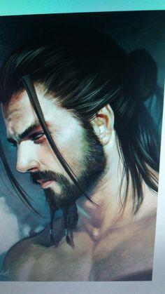 Kinda R. Needs dark brown hair, maybe no beard.