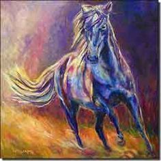 Williams Abstract Horse Equine Ceramic Accent Tile 12