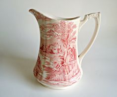 Vintage Alfred Meakin Pitcher Tintern Pattern Jug 1930's by treasurecoveally on Etsy