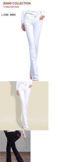 e64f9fc389 New 2015 Spring Female Denim Pants, Flare Fashion Stretchy White Skinny  Jeans Woman Straight Leg