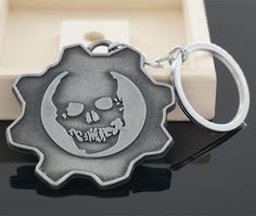 Gears Of War 3 Logo Punk Keychain for Men
