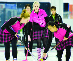 Team Bond Girls made the front page of the Lethbridge Herald this weekend.  Sweet pink kilts and jerseys girls!  A GREAT BIG SEA CHANGE   The Lethbridge Herald – myLH.ca Great Big Sea, Team Bonding, Bond Girls, Jersey Girl, Kilts, Curling, The Incredibles, Hollywood, Change
