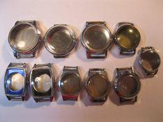 10 Ladies Vintage Wrist Watch Cases ideal Steampunk by HandzofTime, £4.90