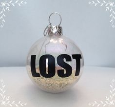 LOST Crash Site Beach Sand Ornament by KarenchantedForest on Etsy