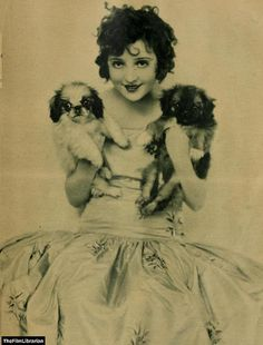 Madge Bellamy and her dogs Hong and Kong