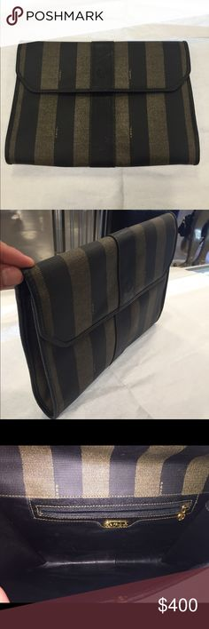 Fendi clutch bag This clutch is in good condition it has some normal wear the outside is clean no marks or tears the inside is clean with normal wear. MAX061975XWZ Fendi Bags Clutches & Wristlets