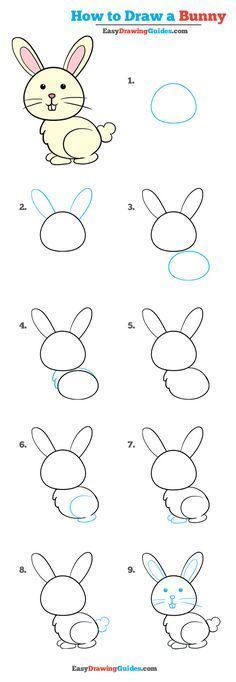 Learn to draw: Easy step by step drawing tutorials for kids and . - Learn to Draw: Easy Step by Step Drawing Tutorials for Children and Beginners L … – Learn How t - Easy Drawing Tutorial, Drawing Tutorials For Kids, Easy Drawings For Kids, Drawing For Beginners, Drawing For Kids, Art For Kids, Easy Bunny Drawing, Draw Animals For Kids, Easy Animal Drawings