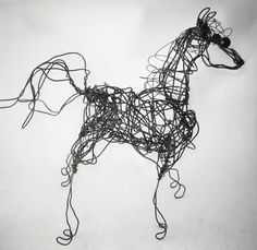 Metal Horse Wire Sculpture Home Decor Table Art by WireArtInk, $50.00