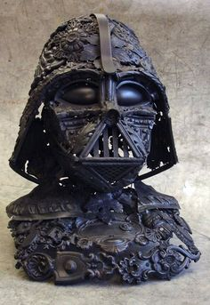 DIY a Darth Vader mask from cutlery and some other stuff. I will never do this, but isn't it awesome?