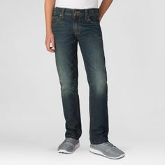 Denizen from Levi's Boys' 420 Skinny Fit Jeans Hang Ten - Dark Blue