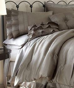 Look at this #zulilyfind! Platinum Frills Comforter Set by Colonial Home Textiles #zulilyfinds