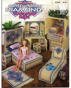 Fashion Doll Contemporary Diamonds Water Bed by grammysyarngarden