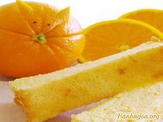 Cách làm bánh bông lan cam tươi