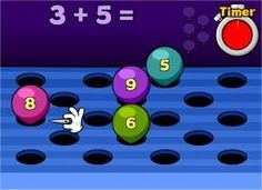 Math Games - Fun Online & Free Maths Games for Kids in Elementary grades Free Math Games, Kindergarten Math Games, Math Games For Kids, Math Classroom, Fun Math, Teaching Math, Math Activities, Kids Math, Fun Games