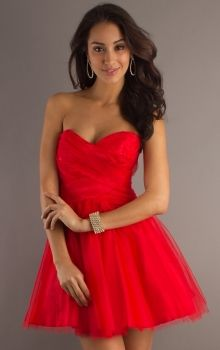 Orifashion Sexy Halter Ruched Red Short Prom Dress EDSHER0224, US ...