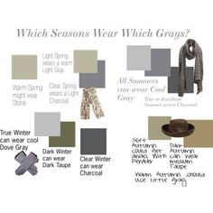 Clear spring and summer share medium charcoal gray.