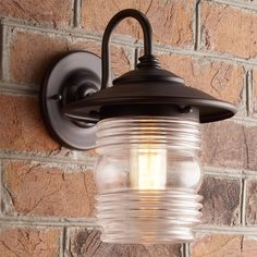 Check out Contemporary Ridged Glass Wall Lantern from Shades of Light Outdoor Wall Lantern, Outdoor Wall Sconce, Outdoor Walls, Outdoor Lighting, Exterior Lighting, Sconce Lighting, Light Shades, Glass Shades, Light Fixtures