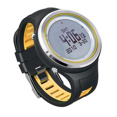 92.99$  Buy now - http://alibhy.worldwells.pw/go.php?t=32669513332 - SUNROAD 5ATM Waterproof Digital Outdoor Sports Clock -Men Watch  EL Backlight Compass Pedometer Watch Thermometer Yellow Color