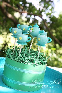 Tea Set Cake Pops by 2Sweeties