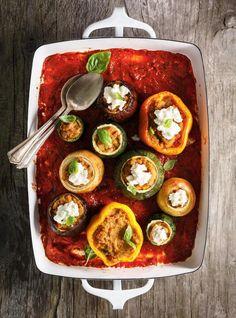 Légumes farcis au parmesan #ricardocuisine #vegetables #vegetarian