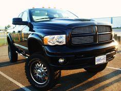 Dodge Ram Trucks blac  lifted
