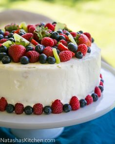 This cake. Is. Good! It was my husbands birthday cake. I know how much he loves fruit in, on and around cake so I made his dreams come true with this stunner. We ate it today and there wasn't a crumb left behind! My whole...