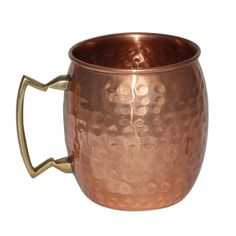 Handmade Pure Copper Hammered Moscow Mule Mug